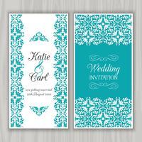 Invitation de mariage décoratif vecteur