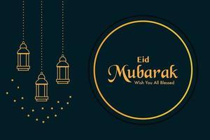 vecteur de fond eid mubarak or