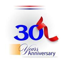 Illustration de conception de modèle de vecteur de célébration d'anniversaire de 30 ans