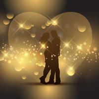 Couple de la Saint Valentin vecteur