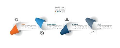 modèle d & # 39; infographie commercial ou marketing. vecteur