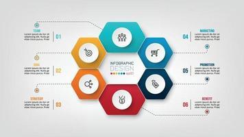 modèle d & # 39; infographie de diagramme commercial ou marketing. vecteur
