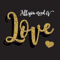 Tout ce dont vous avez besoin est un fond d'amour vecteur