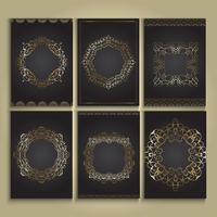 Fonds décoratifs or et noirs vecteur