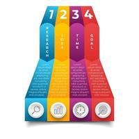 conception de modèle de bannière infographique entreprise vecteur