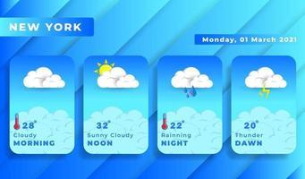 application de prévisions météorologiques vecteur