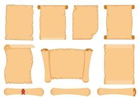 illustration de conception de vecteur de défilement de papyrus isolé sur fond blanc