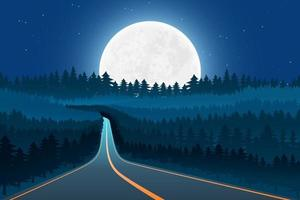 lune nature paysage fond illustration de conception vectorielle vecteur