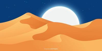 illustration de conception de vecteur de fond de paysage désertique