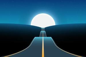 illustration de conception de vecteur de fond de paysage de route