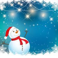 Fond de bonhomme de neige de Noël vecteur