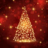 Arbre de Noël pétillant vecteur