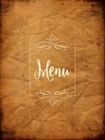 Arrière-plan de menu grunge décoratif vecteur