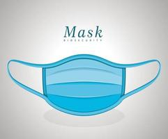 conception de vecteur de masque bleu médical