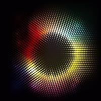 Fond abstrait lumières vecteur