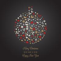 Fond d'icône décorative de Noël