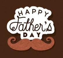 bannière de fête des pères avec dessin vectoriel moustache