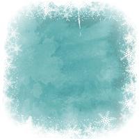 Frontière de flocon de neige de Noël sur fond aquarelle