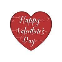Carte de Saint Valentin vecteur