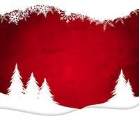 Paysage de Noël sur fond aquarelle vecteur