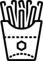 icône de la ligne pour les frites