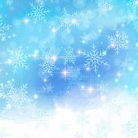 Fond de flocon de neige aquarelle
