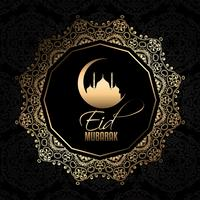 décoratif eid mubarak fond vecteur