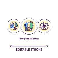 icône de concept de convivialité familiale vecteur