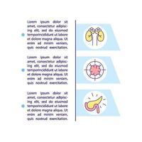 icône de concept de condition médicale chronique avec texte vecteur