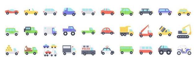 style plat d'icône de vecteur lié au transport