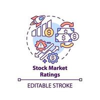 icône de concept de notation boursière vecteur