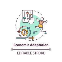 icône de concept d & # 39; adaptation économique vecteur