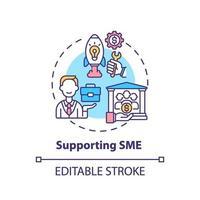 soutien de l & # 39; icône de concept de PME vecteur