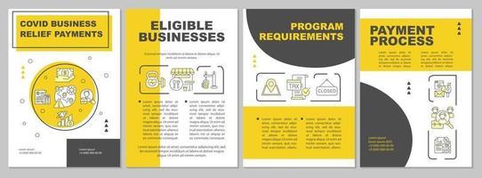 modèle de brochure sur les paiements de secours aux entreprises covid vecteur