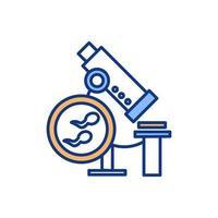 icône de couleur d & # 39; analyse de sperme