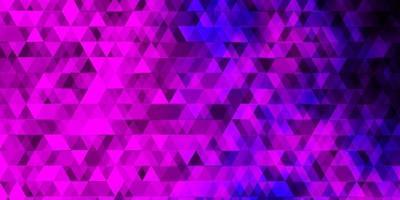 toile de fond de vecteur rose clair, bleu avec des lignes, des triangles.