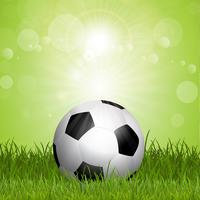 Ballon de foot dans l'herbe vecteur