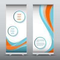 Publicité retrousser des bannières avec dessin abstrait vecteur