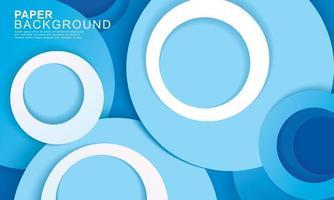 Couche de papier cercle bleu abstrait vecteur