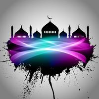 Abstrait grunge Eid Mubarak vecteur