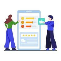 concept d & # 39; enquête auprès des clients en ligne