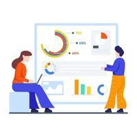 concept de processus d & # 39; analyse de données vecteur
