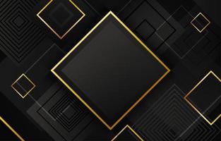 fond géométrique noir et or vecteur