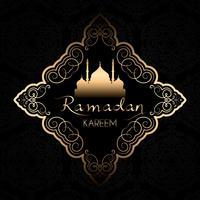 Fond de Ramadan Kareem élégant vecteur
