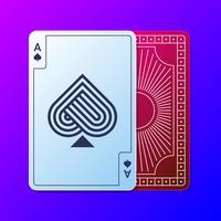 Rectangle de conception de cartes à jouer vecteur