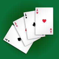 jouer aux cartes vecteur