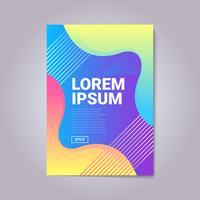 Composition moderne de couverture de formes de gradient abstrait vecteur