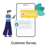 concept d & # 39; enquête client en ligne vecteur