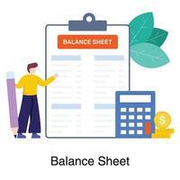 bilan dans le concept comptable vecteur