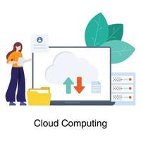 concept de réseau informatique en nuage vecteur